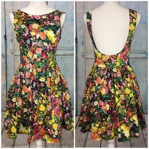 ZARA Floral Tulip Dress